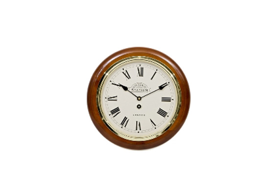 Victoria Station Roman Wall Clock 32cm Walnut