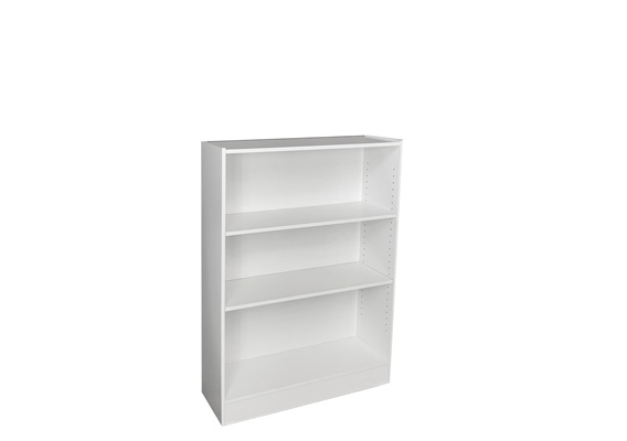 WHITE BOOKCASE ADJUSTABLE - 1200 x 900