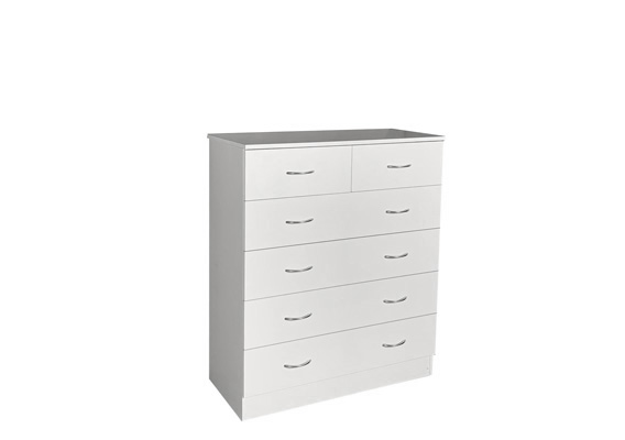 WHITE 4+2 DRAWER TALLBOY