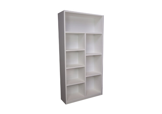 White Staggered Bookcase 1800 X 900 Se Waite And Son