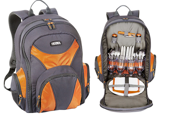 THERMOS 4 PERSON BACKPACK PICNIC SET