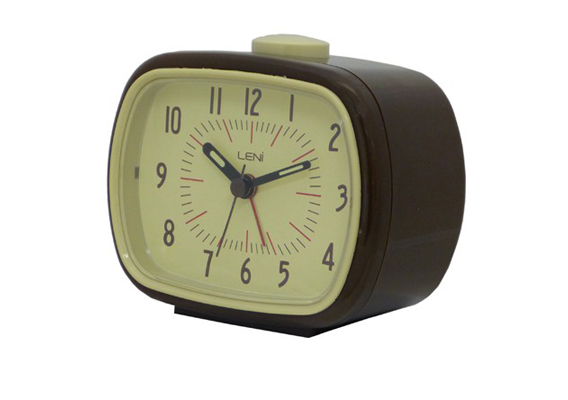 ALARM CLOCK LENI RETRO GREEN