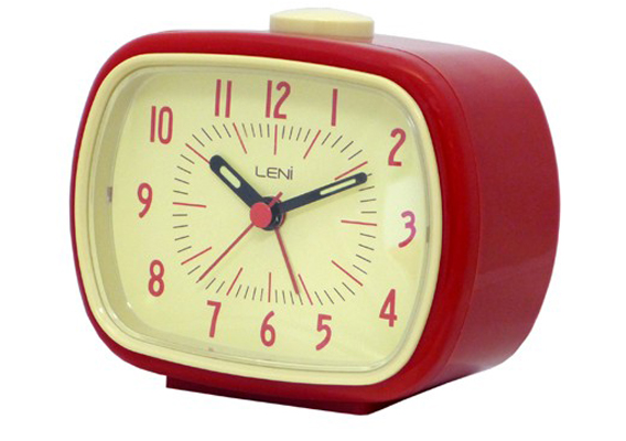 ALARM CLOCK LENI RETRO RED
