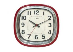RETRO WALL CLOCK RED/IVORY 30CM