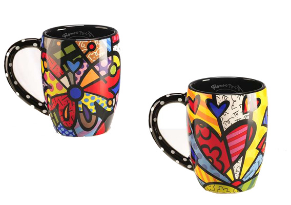 BRITTO HEART & BUTTERFLY MUGS 339047