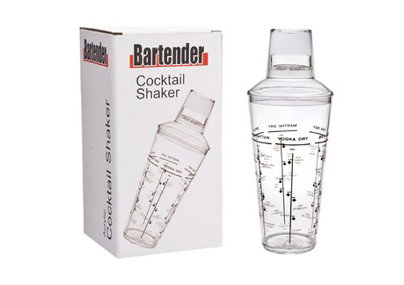 Bartender - Cocktail Shaker Acrylic 750ml