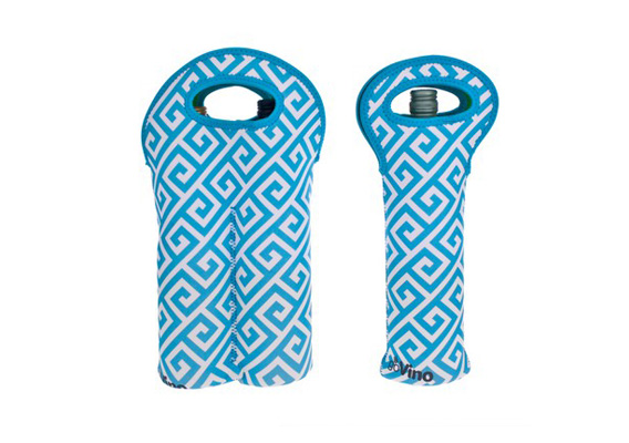 Go Insulated Go Vino Single & Two Bottle Bags Grecian Aqua