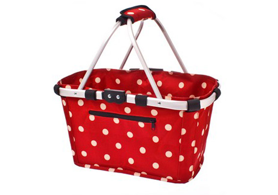 Shop & Go Carry Basket Cherry Dots