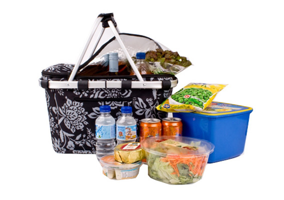 Shop & Go Insulated Carry Basket Camelia Black