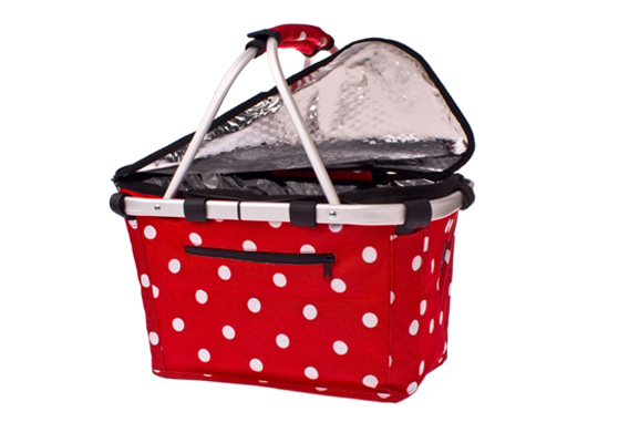 Shop & Go Insulated Carry Basket Cherry Dots