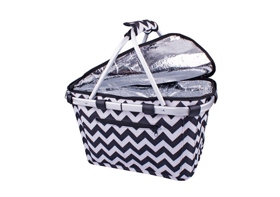 Shop & Go Insulated Carry Basket Chevron Stripe