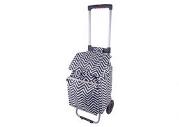 Shop & Go Polo Shopping Trolley with Retractable Handles Chevron Stripe