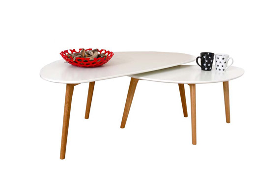 Danish Coffee Table Half Moon Set2