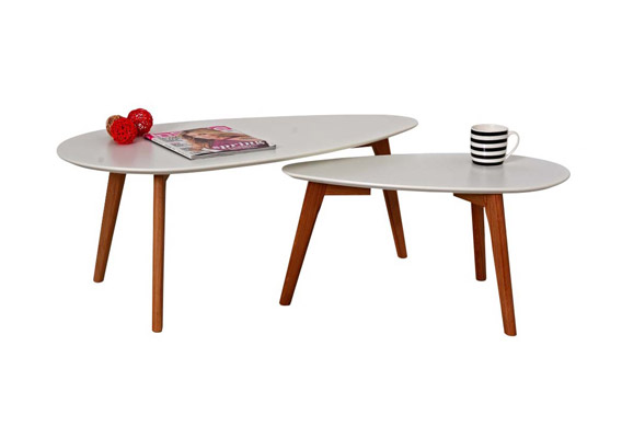 Danish Coffee Tables Triangle set2
