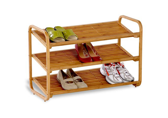Bamboo Shoe Rack 3 Tier Stackable