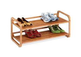 Bamboo Shoe Rack 2 Tier Stackable