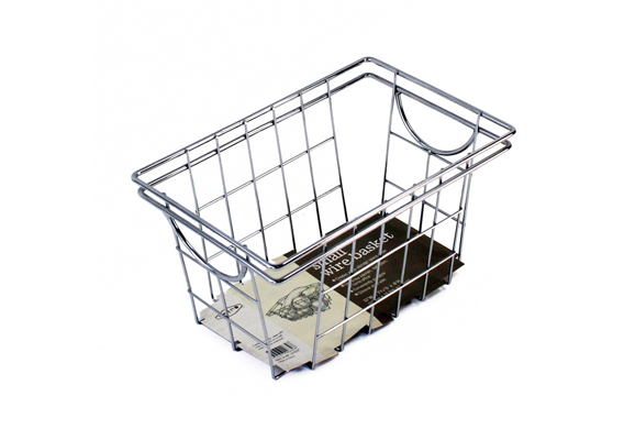 Casa Mia Chrome Basket Small