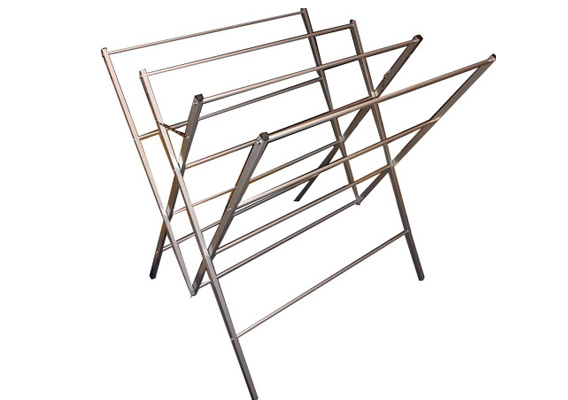 Clothes Airer 12 Rail Chrome - Assembled