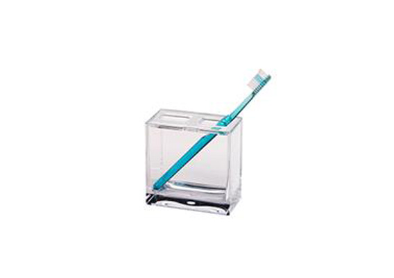 CH TOOTHBRUSH HOLDER CUBE CLEAR