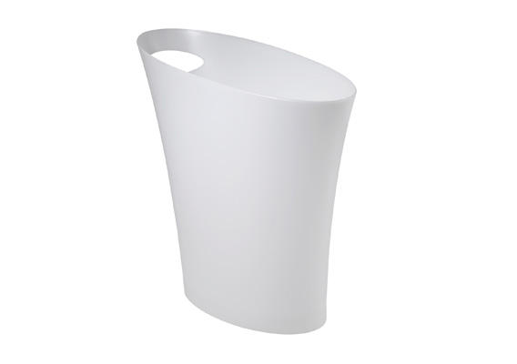 Bathroom Bin - Skinny Can White