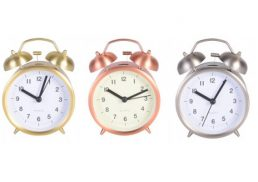 Alarm Clock Brushed Metallic Finish