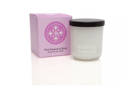 Aromabotanica Pink Freesia & Rose Candles