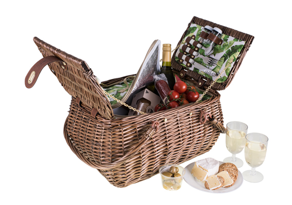 Avanti 4 Person Handle Picnic Basket Tropical