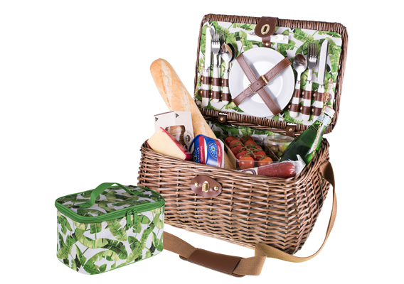 Avanti 4 Person Picnic Basket Tropical
