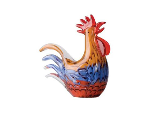 Coloured Glass Animal - Chook