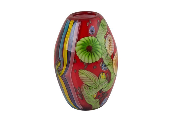 Coloured Glass Vase - Beijing 17x17x25cm