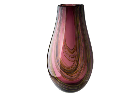 Coloured Glass Vase - Ethereal 21x21x40cm