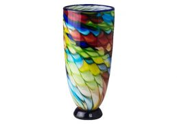 Coloured Glass Vase - Gala 17x38cmH