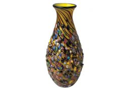 Coloured Glass Vase Periwinkle