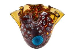 Coloured Glass Vase - Verona 30x27x24cm