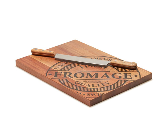 Salt & Pepper Fromage Cheese Board Double Handle Knife 35 x 25cm