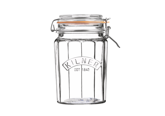 Kilner Facetted Clip Top Jar - 1.8 Litre