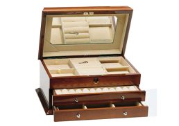 Jewellery Box 2Drawer Walnut HR R212W