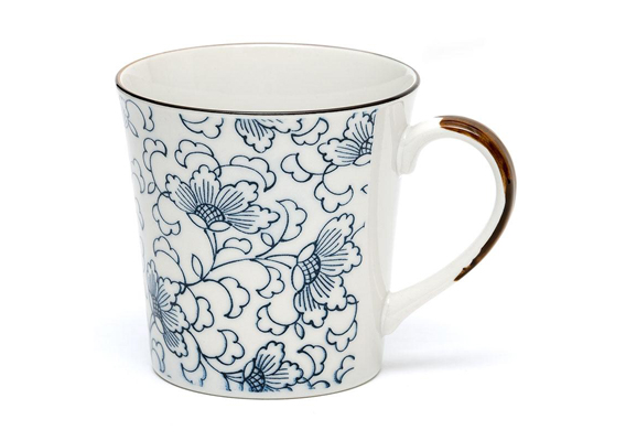 Japanese LF White Kusa Tea Mug