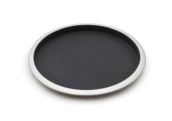 Salt & Pepper Bond Bar Tray Round Black 36cm