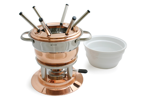 Swissmar Lausanne 11pc Copper Fondue Set