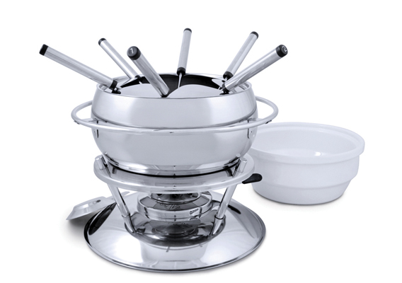 Swissmar Zuri 11pc Fondue Set Stainless SteelSwissmar Zuri 11pc Fondue Set Stainless Steel