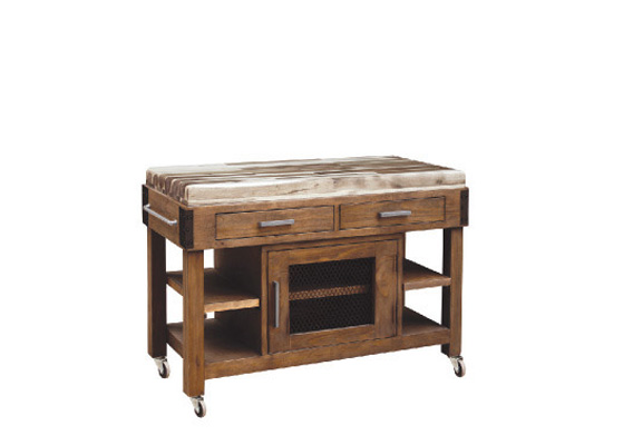 KITCHEN WORKBENCH ANTIQUA 1250 X 560 X 860 HARDWOOD TOP