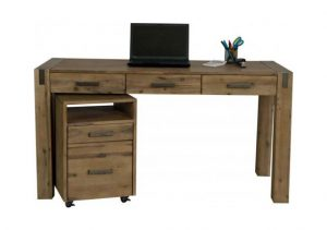STERLING DESK 3 DRAWER & CABINET