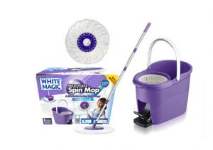 White Magic Spin Mop Foot Press Set