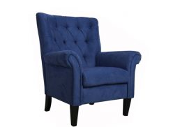 EDWARD ACCENT CHAIR NAVY