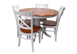 5PCE CROSSBACK DINING SETTING