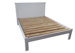 PANEL BED FRAMES PAINTED WHITE