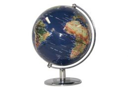 GLOBE 25CM NATURAL DARK BLUE OCEAN