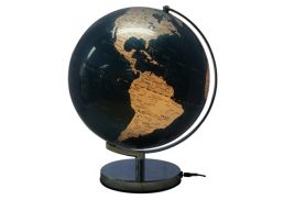 GLOBE 30CM METALLIC BLUE LED