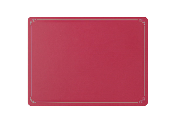 Wilkie Brothers Placemat Red with Silver Border
